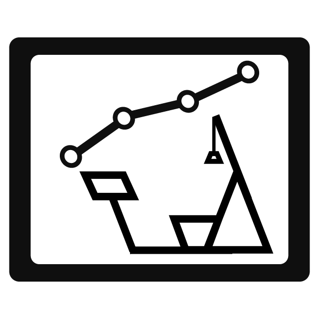 Icon illustrating the continuous measurement of strength training data and comparison feature of every workout