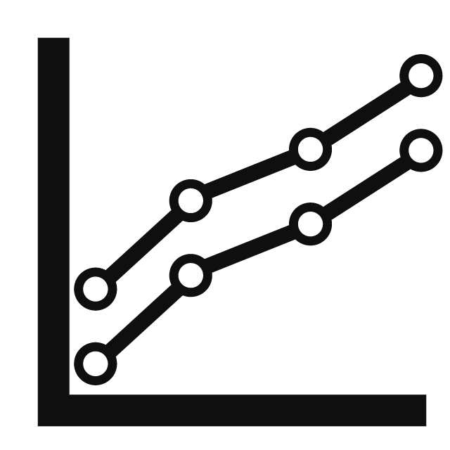 Icon illustrating the high comparability of each individual ARX Workout due to the automatic recording of all TrainingParameters