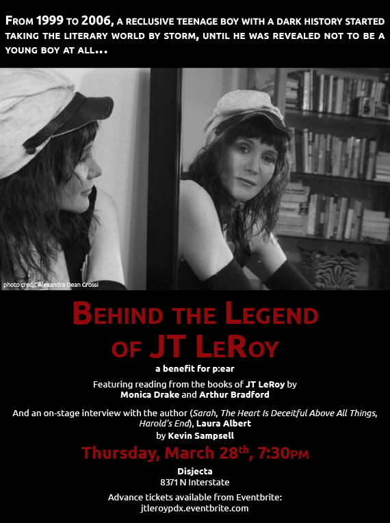 Poster for JT LeRoy event