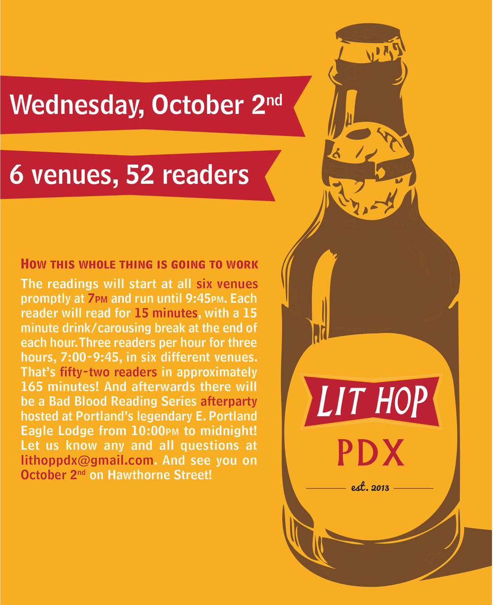 Promotional poster for first annual LitHop PDX