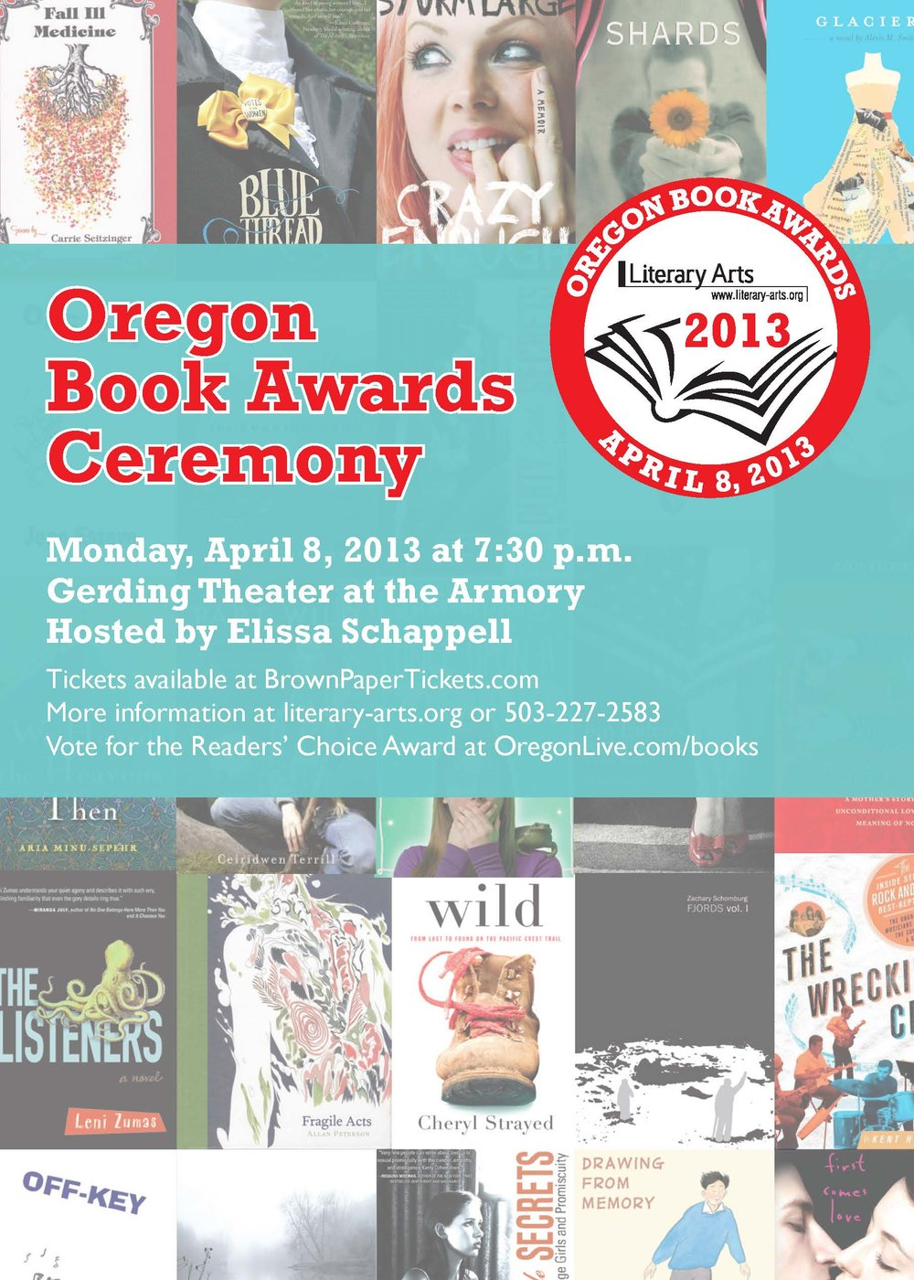 Postcard for the 2013 Oregon Book Awards