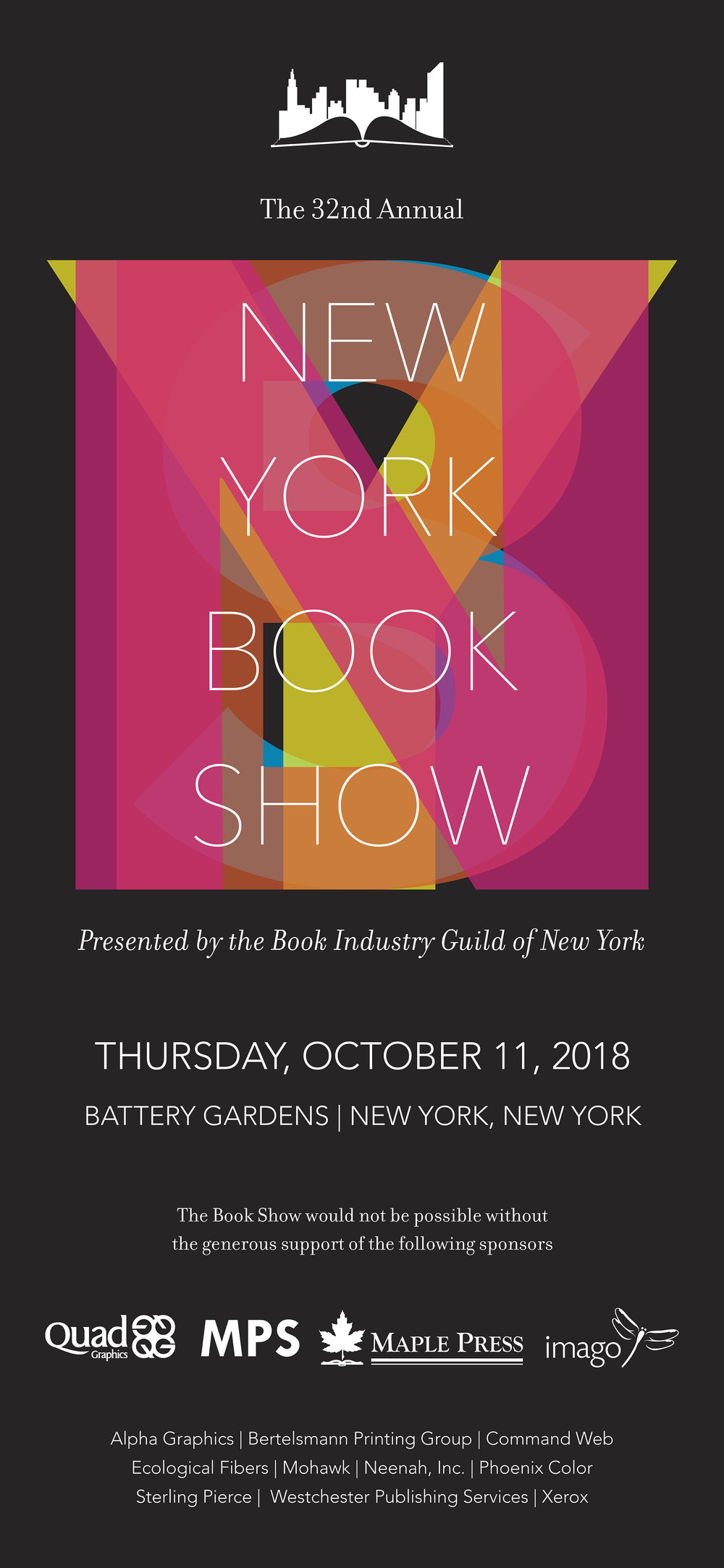 New York Book Show 2018 banner
