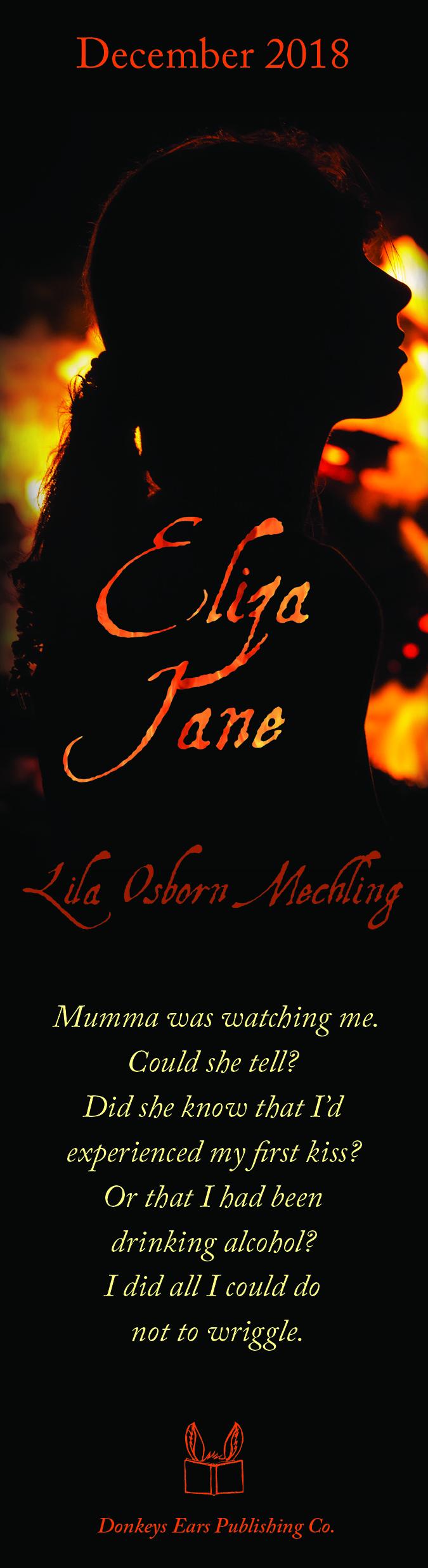 Bookmark for Eliza Jane by Lila Osborn Mechling (Donkey Ears Publishing, December 2018)