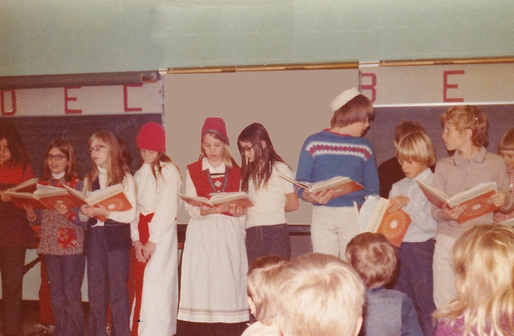 Julie at Leighton Elementary School in 1977