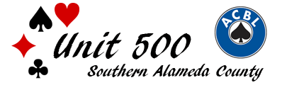 ACBL Unit 500 Southern Alameda County