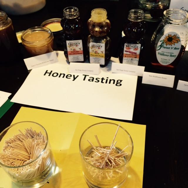 Honey tasting.