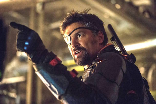 MANU BENNETT AS DEATHSTROKE ON CW'S ARROW