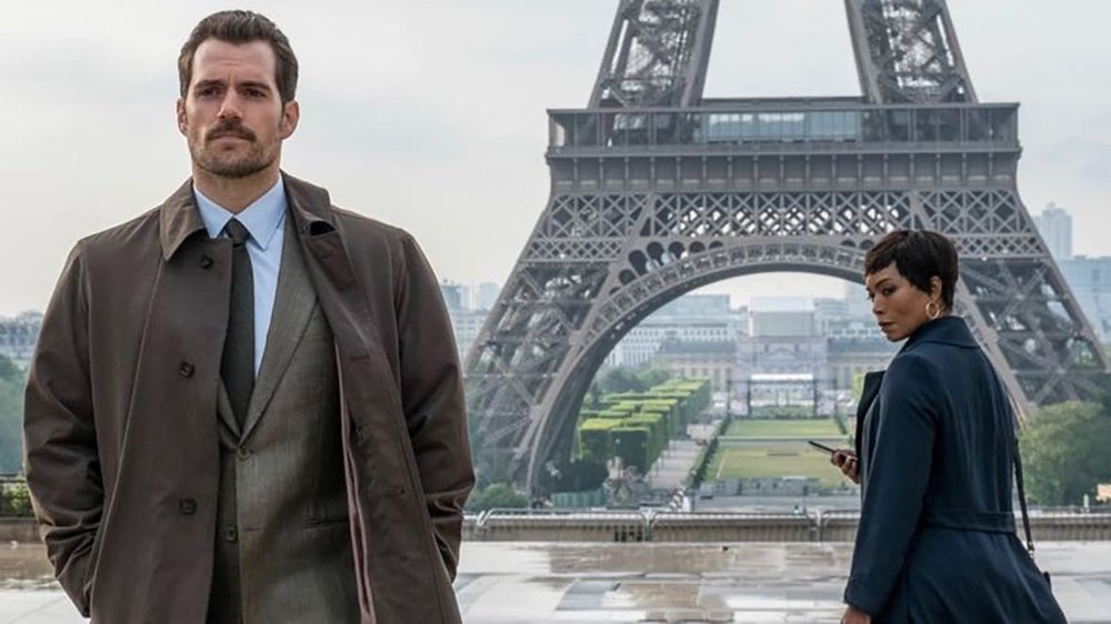 HENRY CAVIL AND ANGELA BASSETT IN MISSION IMPOSSIBLE FALLOUT