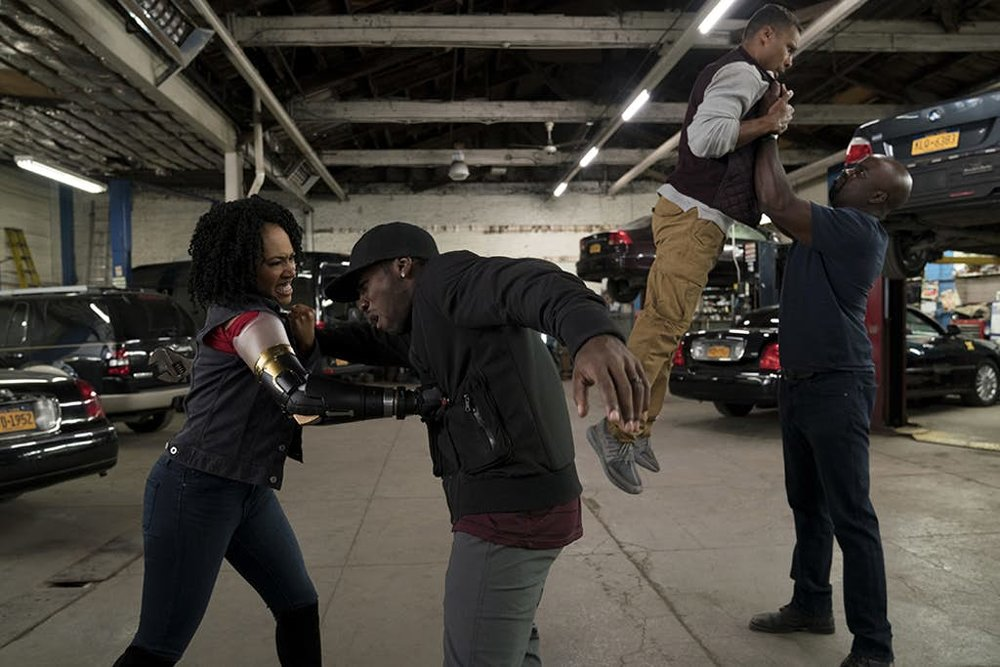 Misty Knight with her new arm