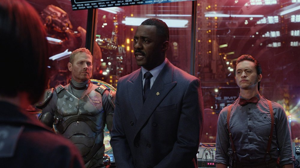 Max Martini, Idris Elba, and Clifton Collins Jr.