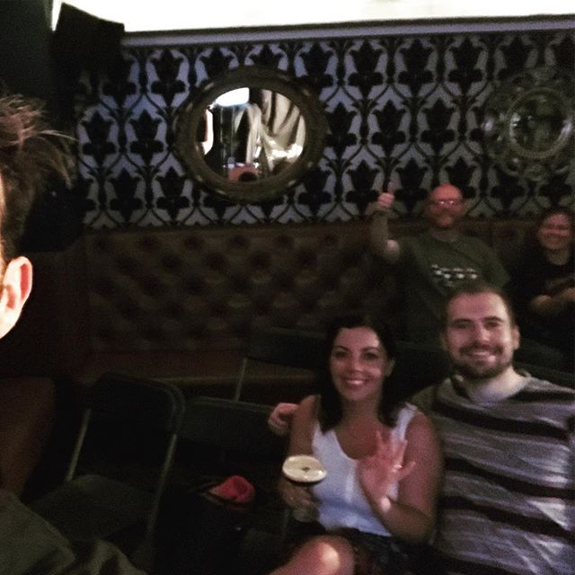 Back in the game! My wee but lovely audience today! #Edinburghfringe #freefringe #standupcomedy