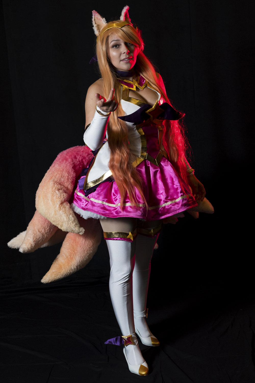 Mermaid Child in Star Guardian Ahri cosplay at Soundcheck Austin