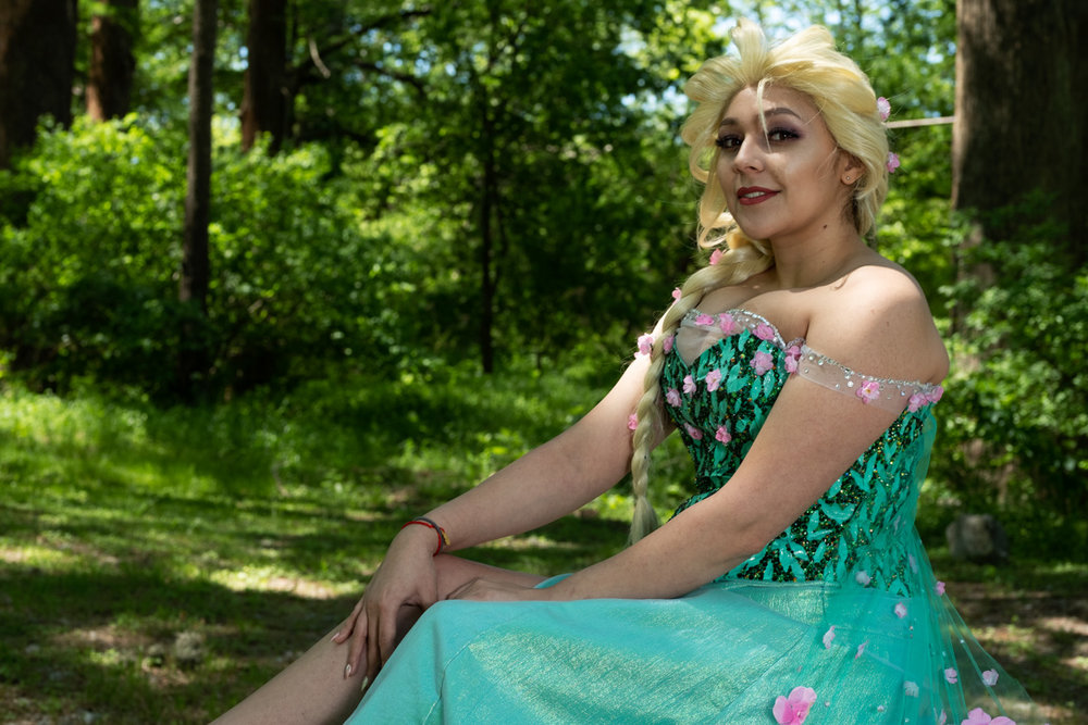 Mermaid Child as Elsa from Frozen Fever at Krause Springs