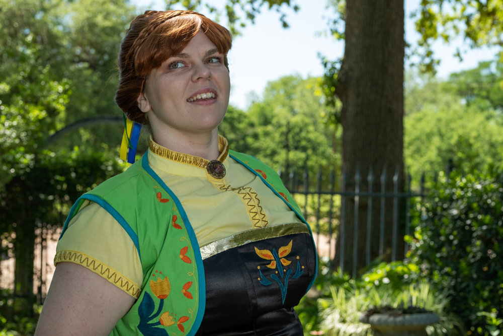 Tacocat Cosplay as Anna from Frozen Fever at Krause Springs