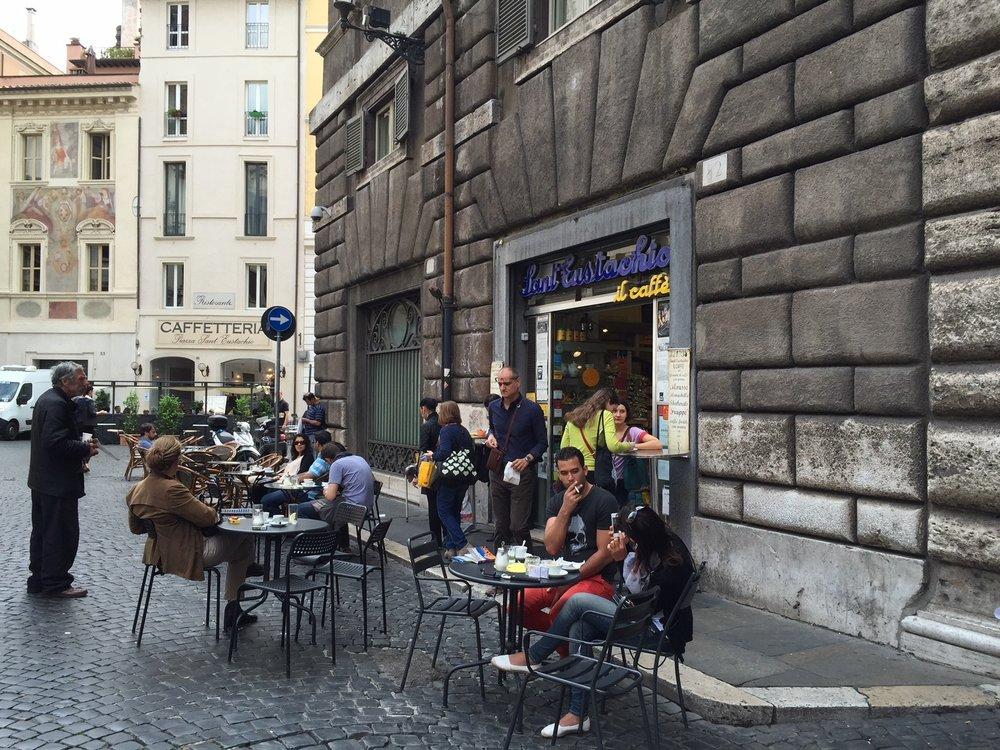 Outside Sant Eustachio