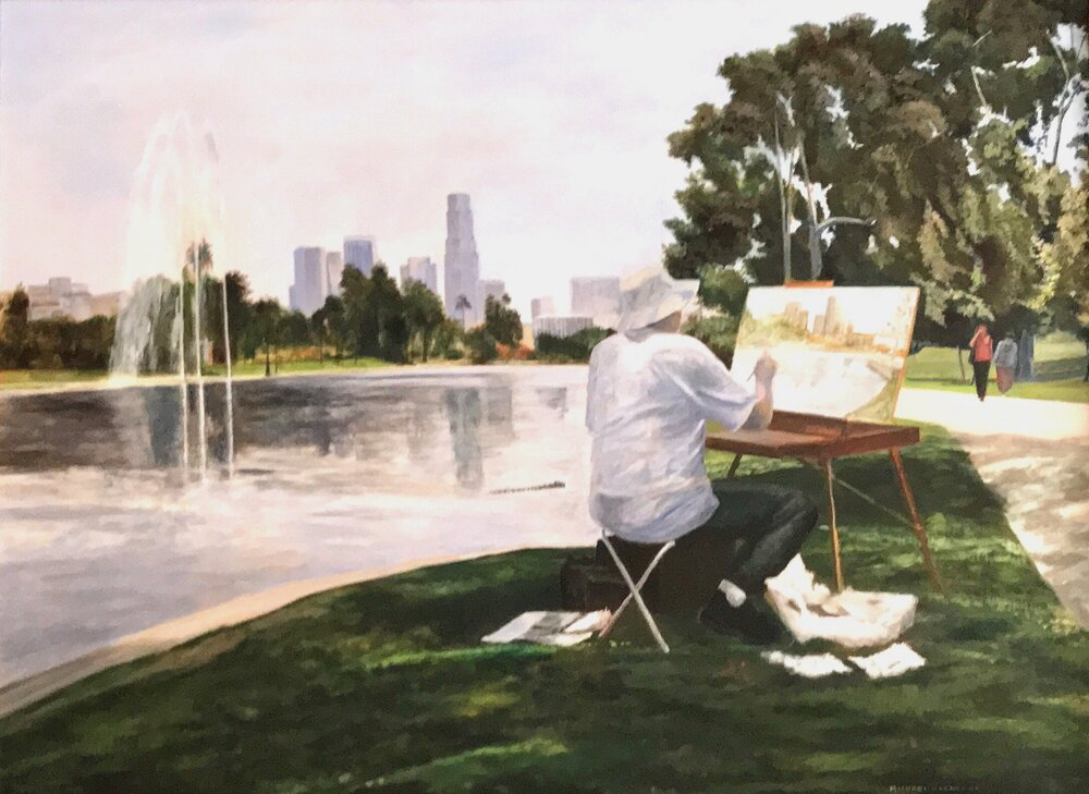 At the Easel – Echo Park