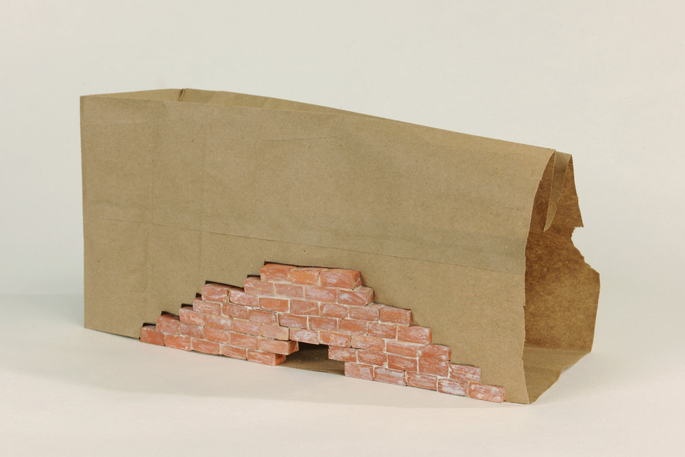 "Reconstructed , Paper, Terracotta, 12"" x 5"" x 7"""