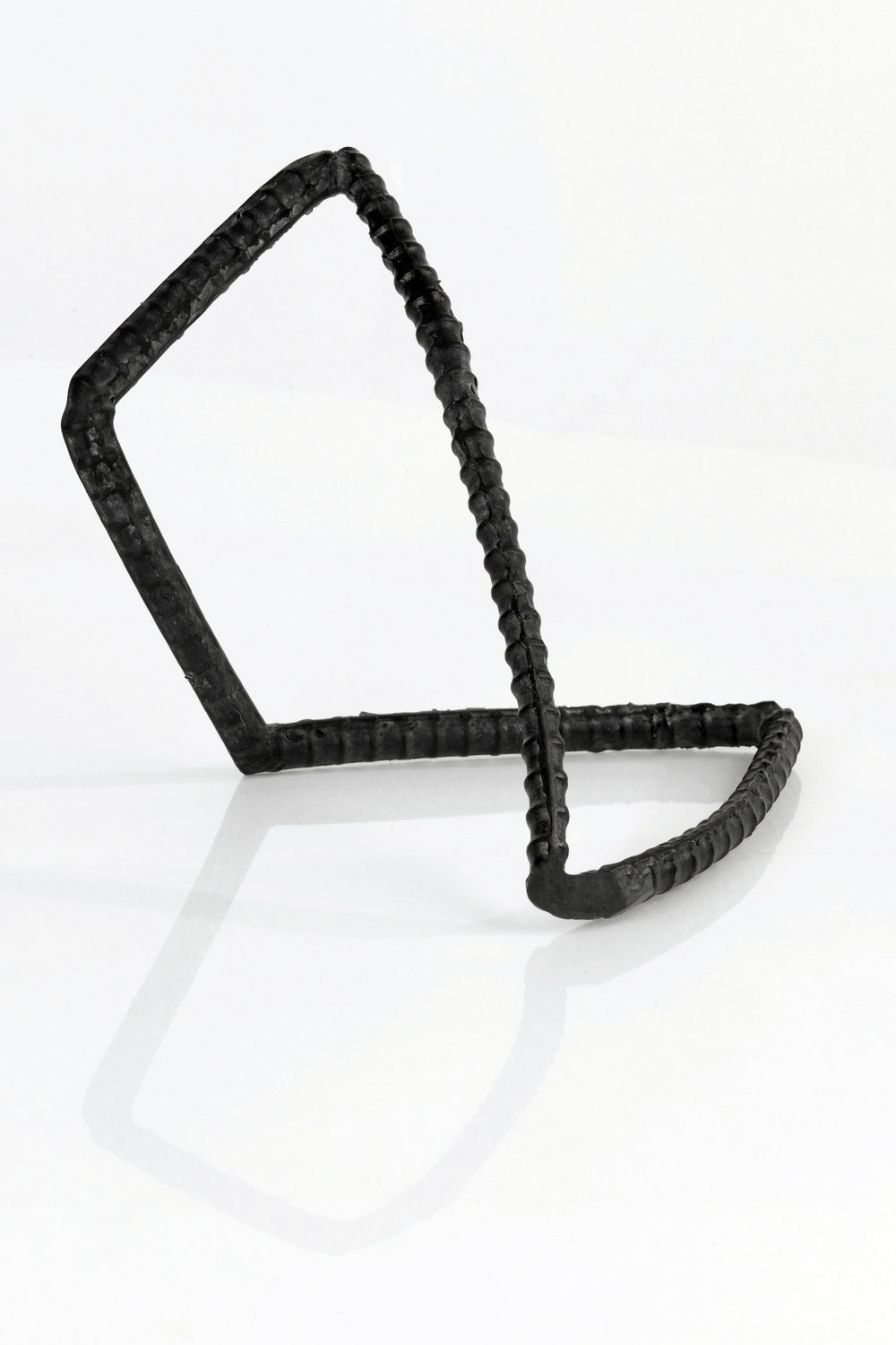 """Untitled , Cast Lead Crystal (Black Glass), 10"""" x 10"""" x 12""""  Collection of the Ernsting Stiftung Museum"""