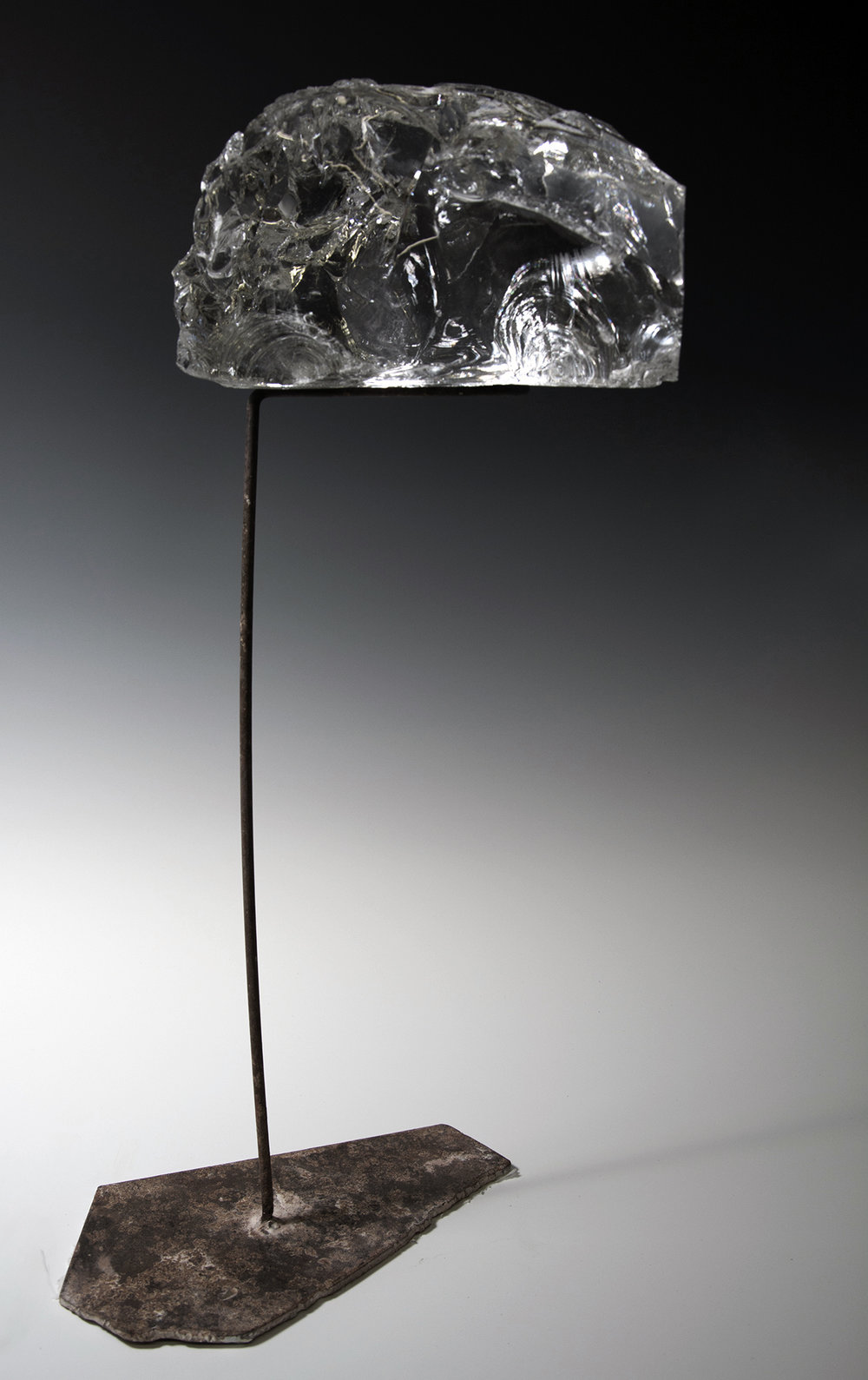 "Untitled , Steel and glass, 14"" x 8"" x 36"""