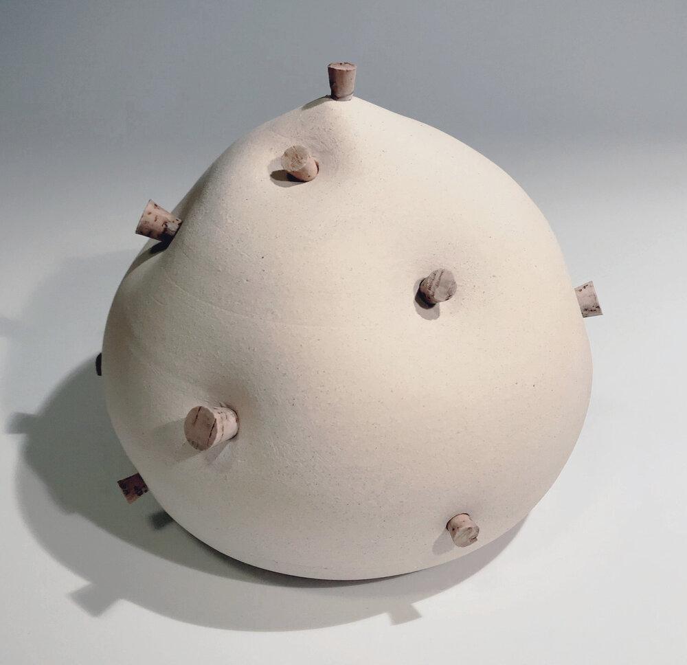 "Untitled , Stoneware and Cork, 10"" x 10"" x 11"""