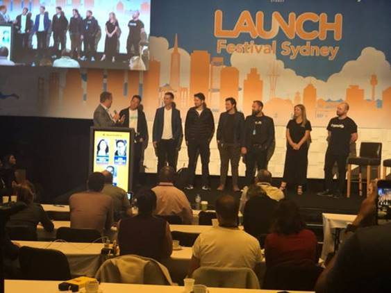 Prizegiving at Launch Festival, Sydney.
