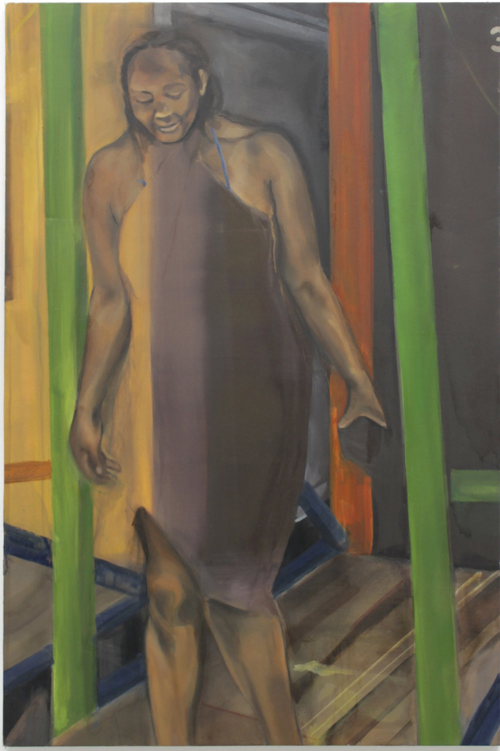 Including Morning Manada Molomolo ,Oil on Canvas, 150x100cm, 2011