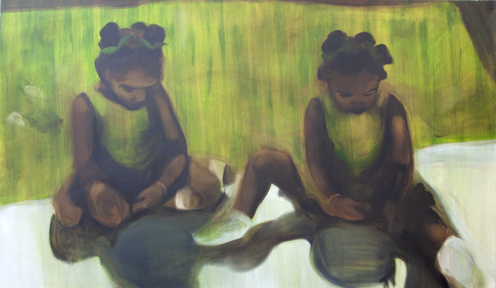 Green Girls 2017 Oil on Canvas 168x118cm