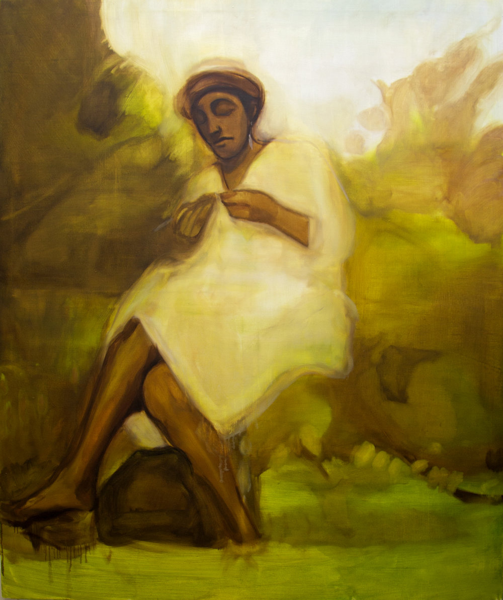 10 Jan 2019 to 2 Feb 2019   Opening Reception: Thursday 10 January, 6:30 - 8:30 PM   Request PDF Catalogue   We are pleased to present a series of new paintings by the British artist Sikelela Owen, in an exhibition that looks at how the imagery and motifs from art history give shape to a painter's visual memory.  Sikelela's paints the things that are closest to her: her family, friends, and relationships. The images she works with have endured as memories, to the extent that they are more than just a depiction of a moment in time. They represent an emotional echo given visual form.  This sense of the intangible past is carried through in the way Sikelela paints. Her brushwork, on the one hand expressive and gestural, is also laid down in light glazes as if layering one haze of memory over another. Detail is only what is strictly necessary: everything superfluous is omitted, or lost. What results are paintings that tap into the loss of a precious moment, and the sense of meaning that such ephemeral things can engender within us.  Within this, Sikelela's paintings also suggest how the history of painting can influence a painter's visual memory. Velazquez's 'Portrait of Sebastian de Morra' lies beneath an image of the artist's aunt; a female motif from Manet's 'The Balcony' find its way into images of girls in suburban London gardens. Sikelela's use of blocks of colour that interlock on the canvas also echoes how Hurvin Anderson's paintings slip between place and pattern. It shows how, through a painter's eye, the canon of art history can be transformed into a very personal visual vocabulary.  Sikelela Owen (1984, London) studied Painting at Chelsea College (2009) and then Fine Art at the Royal Academy Schools, graduating in 2012. Recent solo exhibitions include 'Love, Eat, Sleep, Repeat' at HSBC Canada Place in London and 'People Every Day' at NAM Project in Milan. In 2014 her work was included in '100 Painters of Tomorrow' at Beers Gallery and in the Thames & Hudson 