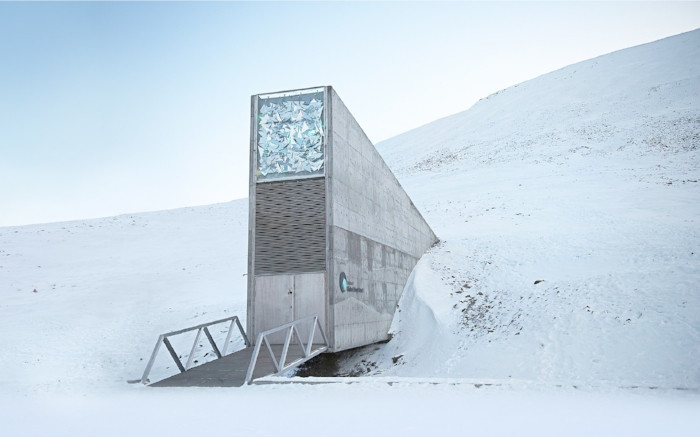 The Svalbard Global Seed Vault is a secure seed bank on the very cold Norwegian island of Spitsbergen.