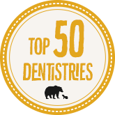 2018 Top 50 Dentistries Award from Mama Bear Shirt Co.
