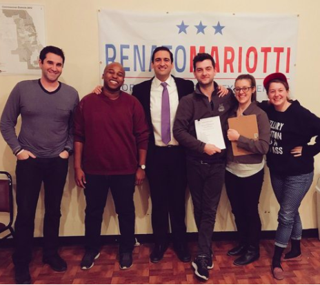 "RENATO MARIOTTI FOR IL ATTORNEY GENERAL - ""Our campaign made the unanimous decision to unionize because we wanted to be a part of this important moment in history and stand in solidarity with the Campaign Workers Guild's movement to protect the rights of campaign workers and movement builders nationwide,"" said Mary Difino, Deputy Field Director and new CWG member."