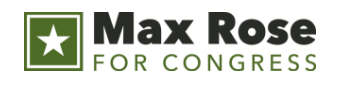 MAX ROSE FOR CONGRESS - Campaign workers for Max Rose, a candidate running for Congress in New York's 11th District, ratified their contract in June 2018.