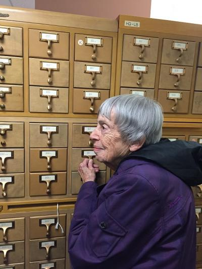 Le Guin and card catalogue.jpg