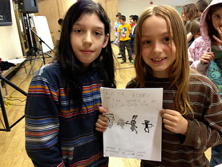 Young cartoonist collaborators in Portland, Oregon.