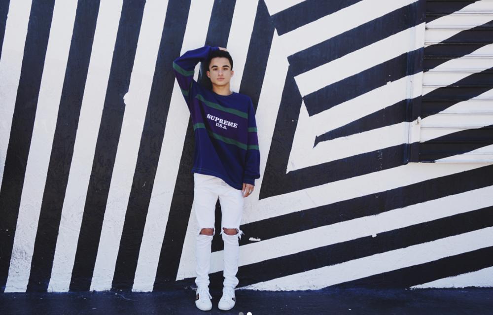 Sweater: Supreme  Jeans: Daniel Patrick  Shoes: Gucci