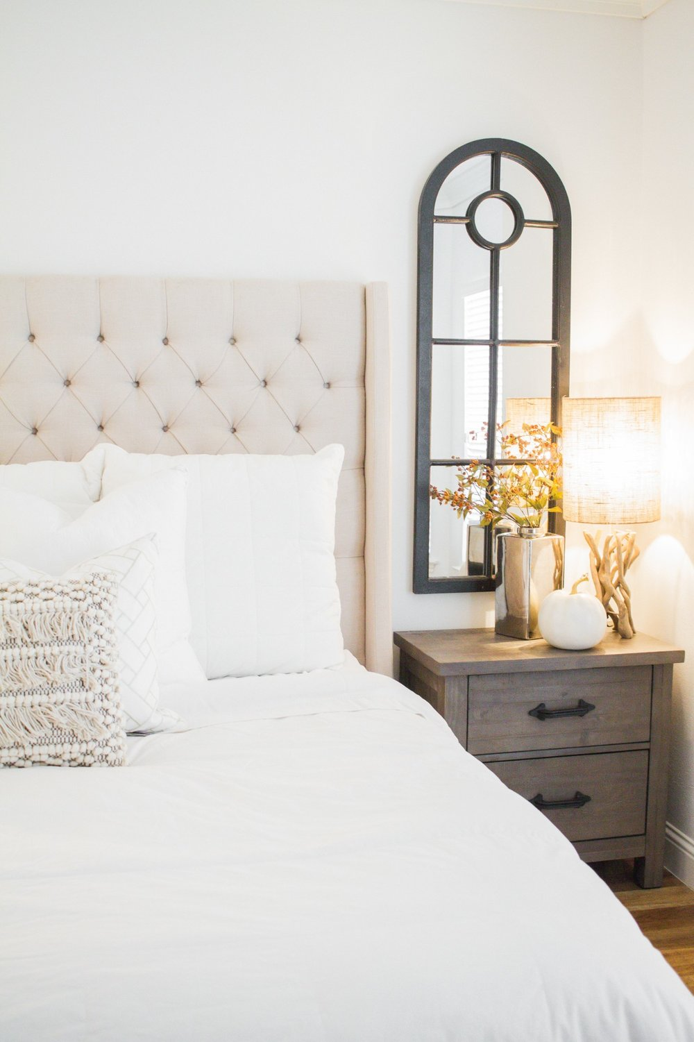 Dallas Artist Rustic Meets Modern Home Tour - Master Bedroom