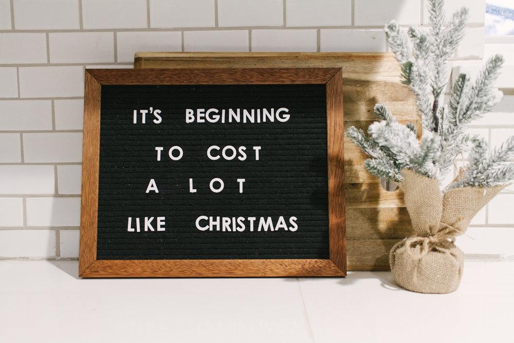 Minimal Christmas Letterboard