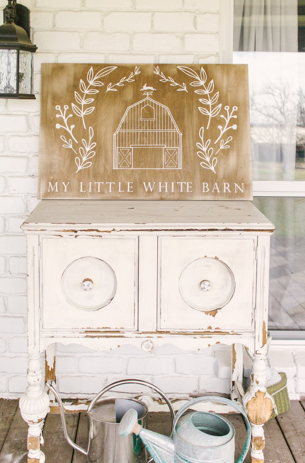 My Little White Barn Home Tour - Spring Decor Inspiration - Front Porch