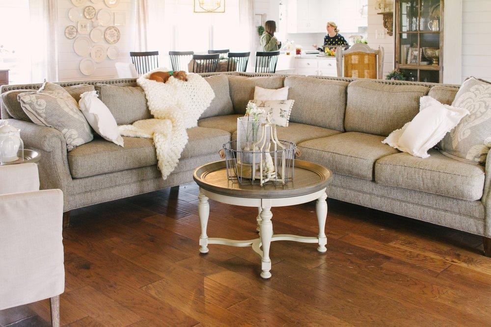 My Little White Barn Home Tour - Spring Decor Inspiration - Living Room