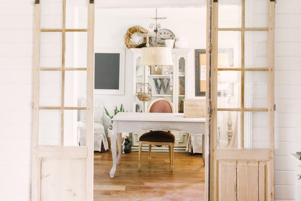 My Little White Barn Home Tour  - Spring Decor Inspiration - Office