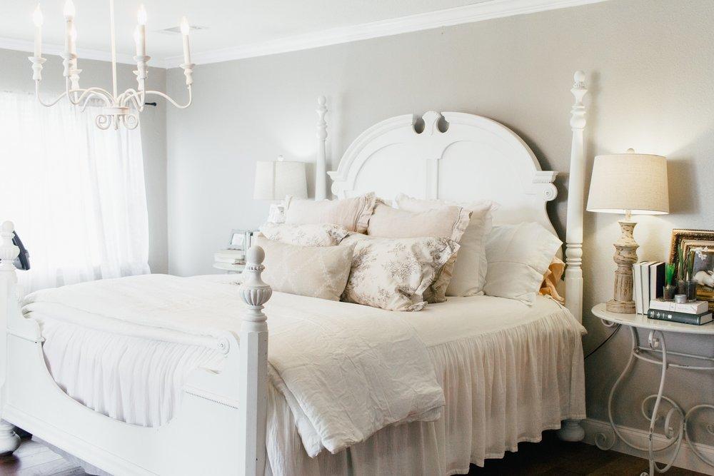 My Little White Barn Home Tour  - Spring Decor Inspiration - Master Bedroom