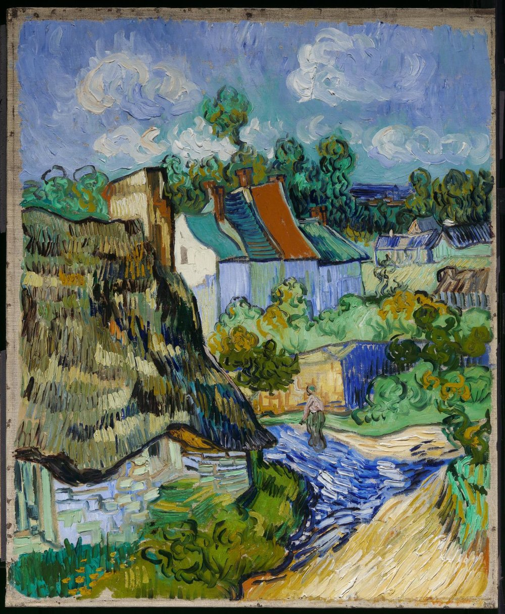 Houses at Auvers (May 1890) by Vincent van Gogh (painted in Auvers-sur-Oise)
