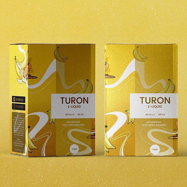 E-liquid packaging box illustration. Flavour: TURON    #illustration #illustrator #banana #pattern #graphic #design #graphicdesign #foil #patterndesign #foil #procreate #procreateillustration