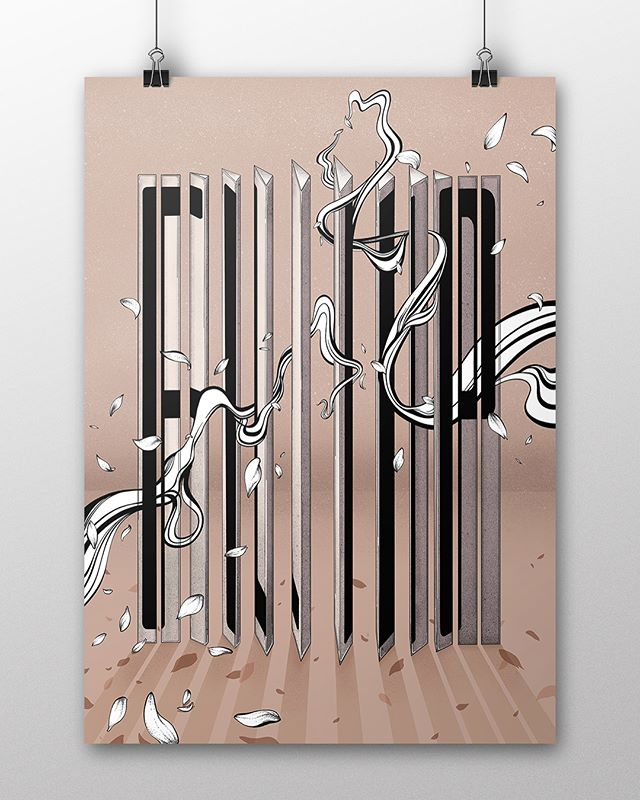 """HK walls 2018 has just finished ytd,,this is one of art print Ive showcased in the exhibition - """"FLIP"""" in A3 size work via @procreate . . . #artprint #illustration #hkwalls #hkwalls2018 #vanshkg #eicopaints #procreate #digitalillustration #typography #typo #typewip #typegang #goodtype @goodtype #homedecor #art #artdeco #decoration #decor #design #graphic #graphicdesign"""
