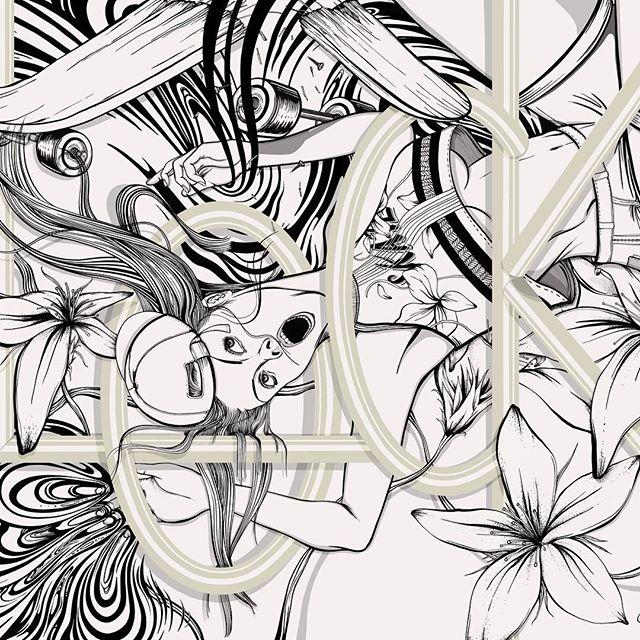 Illustration in progress; work in @procreate #procreate - - - #illustration #skateboard #skate #art #painting #drawing #wip #typewip #typography #urbanart @vans #vanshkg @vanshkg