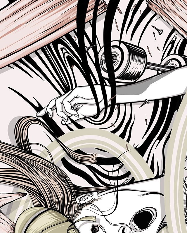 "Disaster; ""Falling Skater Gal"" . @procreate . . . #illustration #art #artist #digitialart #painting #drawing #procreate #ipadpro #paint"