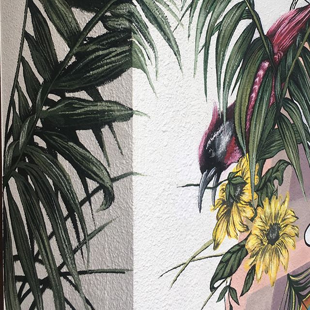 House mural I did last month, a fancy one - - - #throwback #mural #painting #drawing #illustration #urban #urbanart #art #muralpainting #wall #housedecor #decorations #decor
