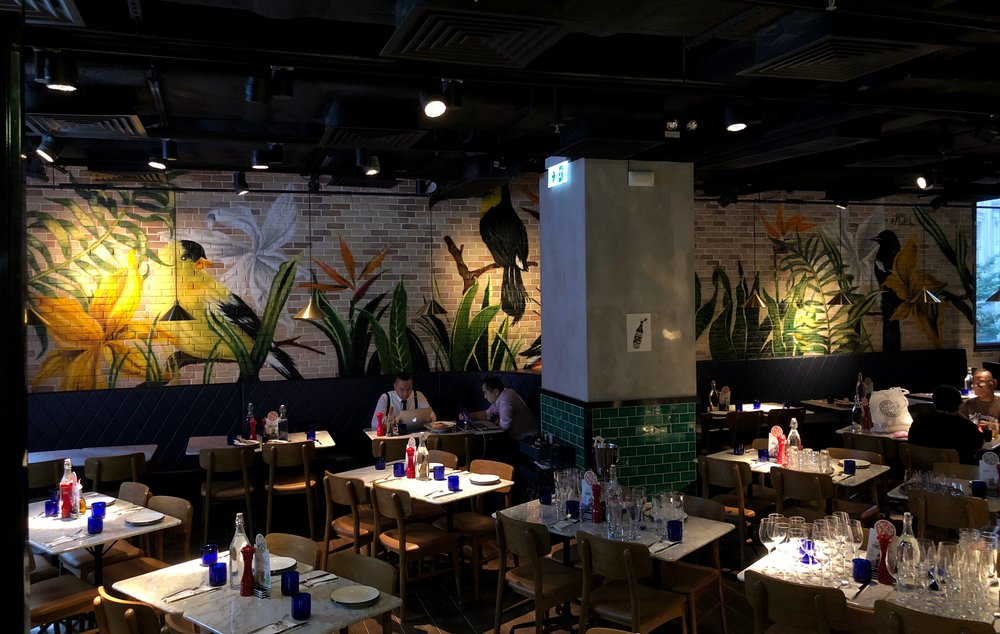 Pizza Express Lee Tung Mural (Brick Wall)