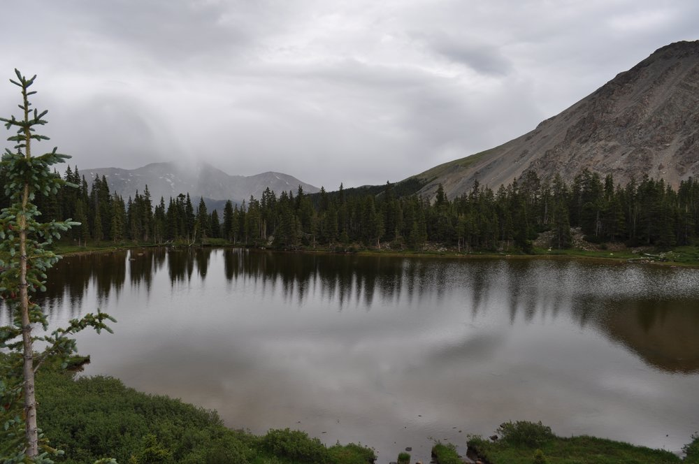 This is Ptarmigan Lake, an 8-mile hike in Buena Vista, Colo.