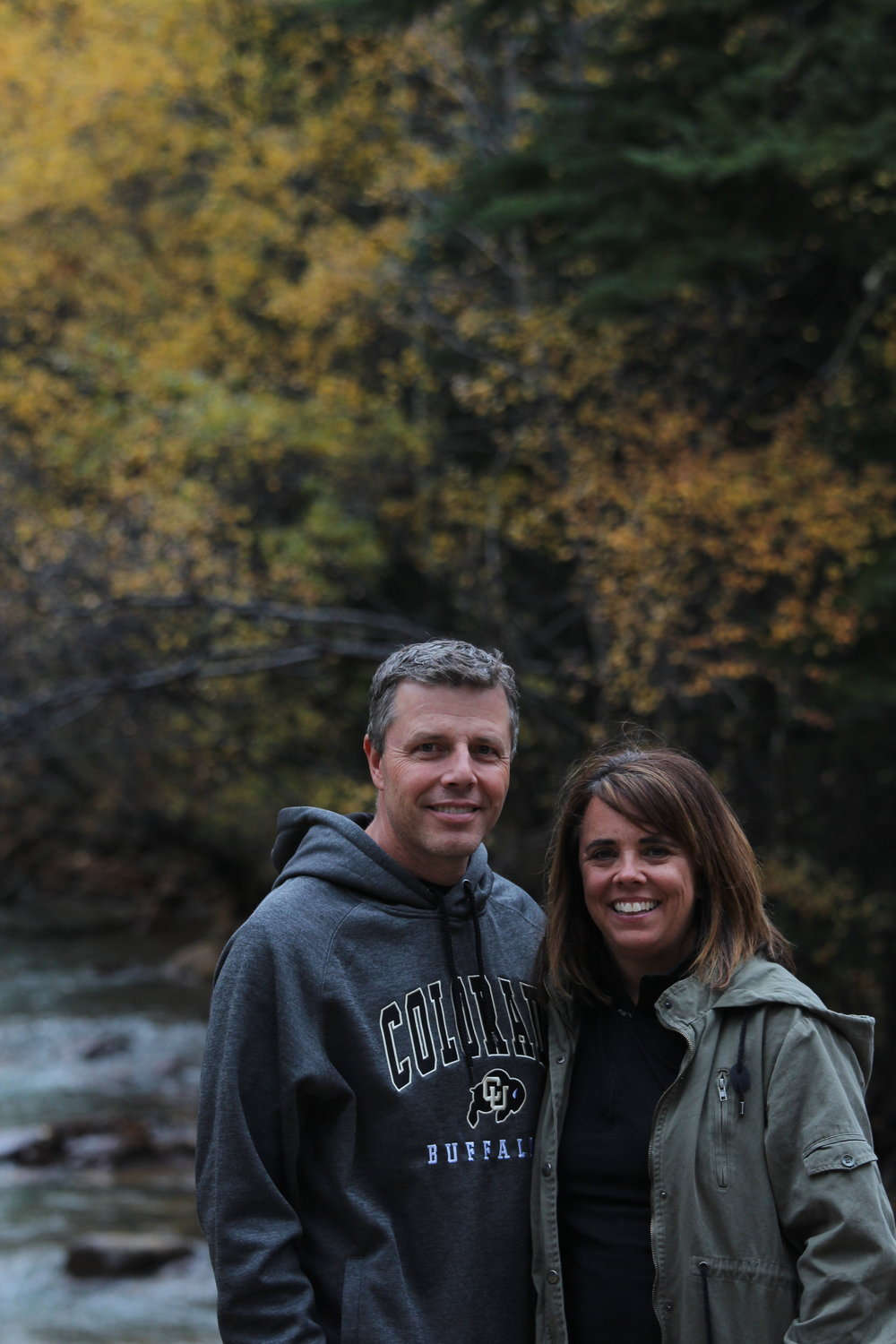 My parents posed for a picture while on a drive viewing the fall colors.
